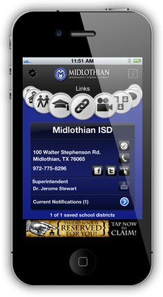 Download the School Connect App (for iPhone or Android) and get connected with Midlothian ISD!