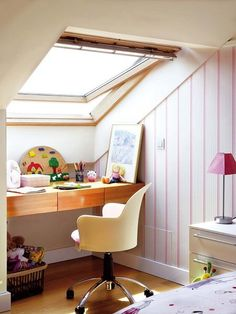 Last Home Decor: Tips To Leverage an Attic Loft Room, Bedroom Loft, Room Ideas Bedroom, Room Decor, House Decoration Items, Made To Measure Furniture, Home Fireplace, Minimalist Room, Attic Rooms