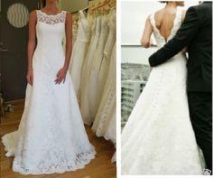 Brudklänning i vintage spets