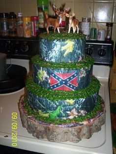 Camo Wedding Ideas Country And Party Real Tree Ap Cake With Cakes Pinterest