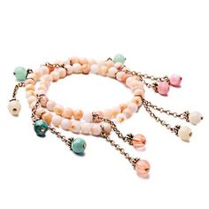 Gorgeous Colored Faux Gem Bracelet For Women (€2,88) ❤ liked on Polyvore featuring jewelry and bracelets