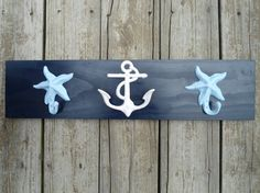 Love these towel hooks! #anchor #seashell #starfish #nautical #decor #pinparty