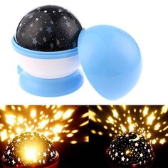 Maelu Sun And Star Lighting Lamp LED Bead 360 Degree Romantic Room Rotating Cosmos Star Projector With USB Cable, Light Lamp Starry Moon Sky Night Projector Kid Bedroom Lamp (Blue) >>> Continue to the product at the image link-affiliate link. #NurseryNightLights