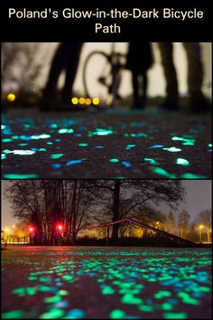 Bicycle lanes should be given fair importance as main roads. They encourage people to take the eco-friendly route in transportation. Take Poland, for example, who has provided glow in the dark bicycle paths for their cyclists. Learn more about this good news through the link below.