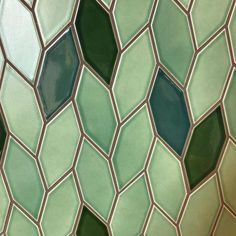 leafy tile inspiration in our sausalito showroom 🌿 Tile Patterns, Textures Patterns, Heath Ceramics, Green Texture, Bad Inspiration, Handmade Tiles, Bathroom Wall Decor, Tile Design, Interior And Exterior
