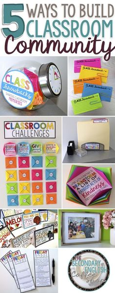 By intentionally taking time to build a positive community in your classroom, you can ease the challenges of classroom management, improve student attitude toward learning, and create an environment where students feel welcomed and supported. Check out Presto Plans' 5 favorite ways to build classroom community on The Secondary English Coffee Shop blog!