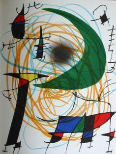 Joan MIRO : Litografía original : Original Lithograph V (1972)