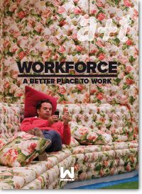 a+t magazine inaugurates the WORKFORCE series, dedicated to the design of workspaces. WORKFORCE A Better Place to Work (a+t 43) is the first volume of the series and reflects, through 25 projects, the path leading from the wild waters of the google-offices towards the calmer waters of the quiet office where employees return to adulthood.