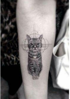 Cat Tattoo, Cat Paw Tattoos, Animal Tattoos, Service Dogs, Tattoo Models, Tattoos For Women, Woman Tattoos, Cute Cat Gif, Cute Cats