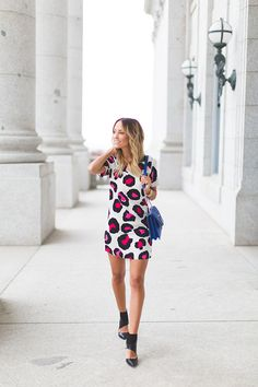 Summer leopard dress | Style'd Avenue, May 2014