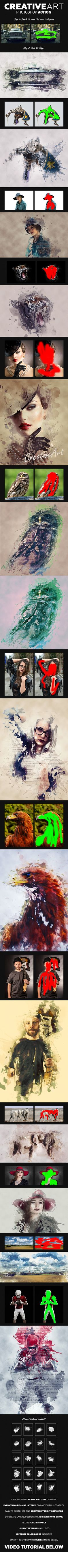 CreativeArt Photoshop Action  — PNG Image #effect #tutorial • Download ➝ https://graphicriver.net/item/creativeart-photoshop-action/15380487?ref=pxcr
