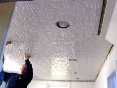 tin tile ceiling - Google Search