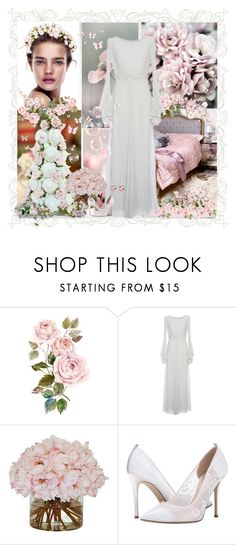 """""""In my grandma's wedding dress"""" by dezaval ❤ liked on Polyvore featuring LUISA BECCARIA, SJP, Belk & Co. and vintage"""