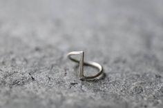 Fedina a chevron minimalista, anello d