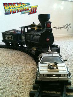 I made my own Back to the Future III train to push the DeLorean time mashine to the year 1985 , for my 2011 Christmas Tree !!!