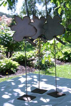 Dekoration i jern. Her som blade.