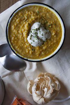 Lenticchie rosse con curry