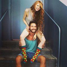 @dorotadeka @iammassarnowsky - moj skarpetkowy chłopak #socks #photoshot #girl #cute #love #handsomeguy #smile #redhead #beard #model #happiness