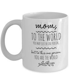 Mom You Are The World - Coffee Mug #coffeemugs