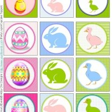 Easter Party Logos/Cupcake Toppers #freeprintables #easter #ishareprintables