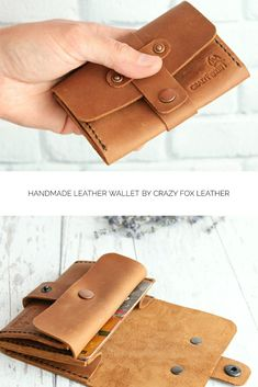 6983a4ec79a0 Handmade leather wallet is best gift idea. www.etsy.com/shop/CrazyFoxLeather  #leatherwallet #wallet #handmadeleather #leatheraccessories