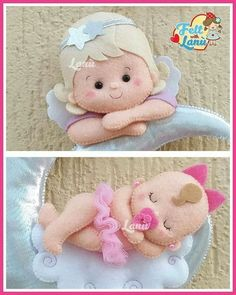 Felt Projects Diy Projects For Kids Crafts For Kids Crafts To Do Sock Dolls Felt Dolls Baby Dolls Felt Angel Felt Applique Sock Dolls, Baby Dolls, Diy Projects For Kids, Sewing Projects, Felt Projects, Felt Doll Patterns, Felt Angel, Baby Crib Mobile, Felt Baby