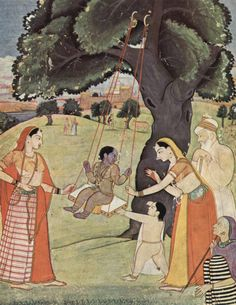 Indian Epics: Images and PDE Epics: Image: The infant Krishna with his family