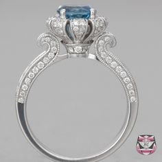 Brazilian Aquamarine Ring in white gold