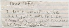 dear tree.