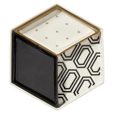 Wit & Delight Ceramic Diamond Design Serving Tray - White/Gold?wid=280&hei=280
