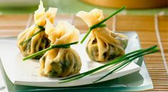 Smart delicious appetizer, easy dim sum Vegetarian Dumplings made with tofu, spinach, mung beans