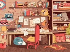 Image shared by Lena. Find images and videos about illustration, netflix and hilda on We Heart It - the app to get lost in what you love. Art And Illustration, Illustrations, Aesthetic Art, Aesthetic Anime, Posca Art, Animation Background, Environment Concept Art, Anime Scenery, Cute Art