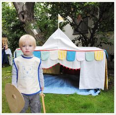 Awesome little play castle thing for a knight in training
