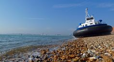 Into the sea with Hovertravel at Southsea