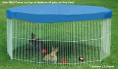 If you really needed to put your bunny outside for a reason or you want to just use an indoor cage top and try to put it outside I think the bigger inside cage top is better or you can just buy a bunny run at the store with a top. As soon as I get a bunny...