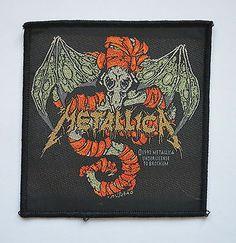 Metallica Woven Patch  http://www.ebay.co.uk/itm/Metallica-Woven-Patch-thrash-band-metal-rock-leather-denim-jacket-st-anger-load-/281210329099?pt=UK_Women_s_Vintage_Clothing&hash=item417971180b
