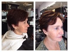 Before and after! Beautiful color, cut and weave by the talented Nikki Berrios at Breathe Salon and Spa!