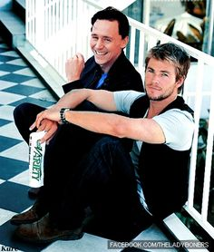 Tom and Chris. Oh my gosh why does chris look so pretty in this picture?