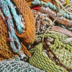 Commercial Fishing Nets And Rope Photograph