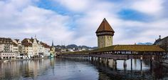 Lucerne et son fameux pont  City and architecture photo by krigou http://rarme.com/?F9gZi