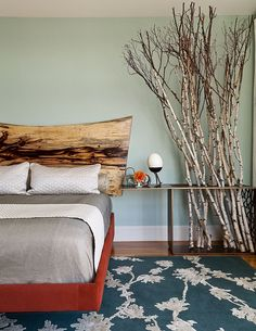 Gorgeous headboard in wood seems also perfect for contemporary bedrooms [From: Christopher Stark Photography]