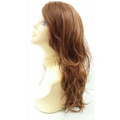 Long 18 Inch Light Auburn With Strawberry Blonde Highlights Wavy Wig... ($50) ❤ liked on Polyvore featuring beauty products, haircare, hair styling tools, bath & beauty, grey, hair care, wigs, blow dryer, hair dryer curling iron and curling iron
