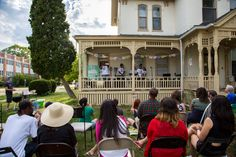 "There are free ""porch shows"" every month in Ypsilanti, Michigan! Ypsilanti Michigan, Washington Street, Porch, Creative, Free, Terrace, Porches, Front Porches, Four Seasons Room"