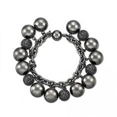 Sparkle Bracelet Full in Black www.lolaandgrace.com
