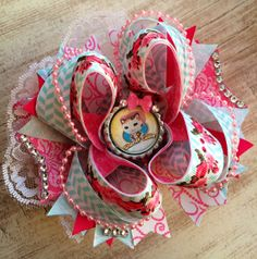 Sheriff Callie Over the Top Boutique Bow by ChicTweetBowtique, $13.00