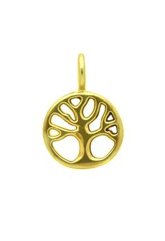 Gold Tree of Life Charm