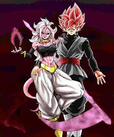 Majin Android 21 and Black Goku