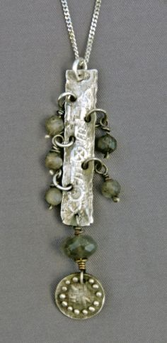 Mirinda Kossoff - petite fine silver pendant with labradorite