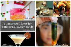 What to do with extra Halloween candy: 9 unexpected ideas from crafts and cocktails to science experiments and educational activities. | Cool Mom Picks