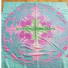 머스트의하와이안퀼트클럽  희숙씨 아플리케 완성 잘지내나요~? #hawaiianquilt  #handdyedfabric  #order production  #handmade #applique  #quiltstagram  #aloha #hawaii  #하와이안퀼트